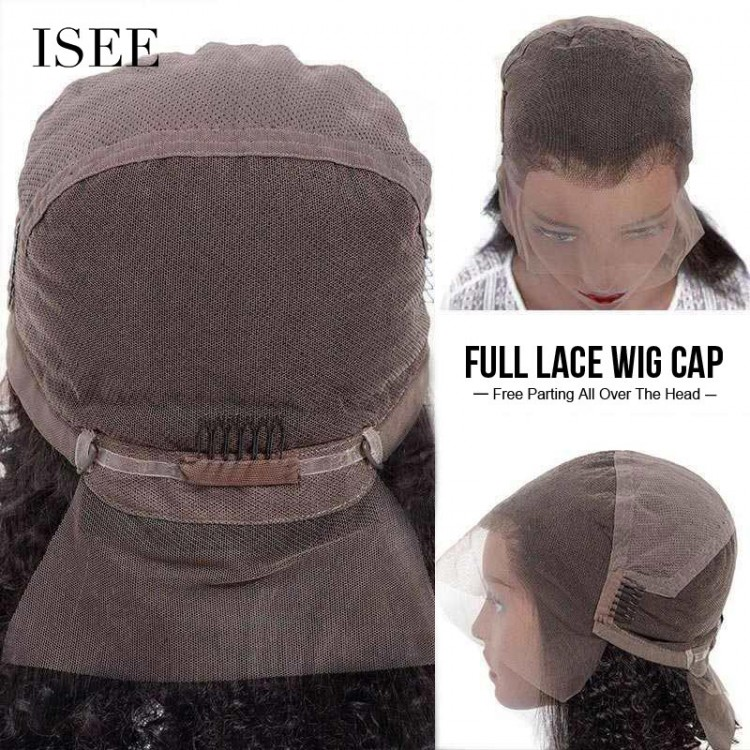 ISEE HAIR Body Wave Full Lace Wig,Pre Plucked