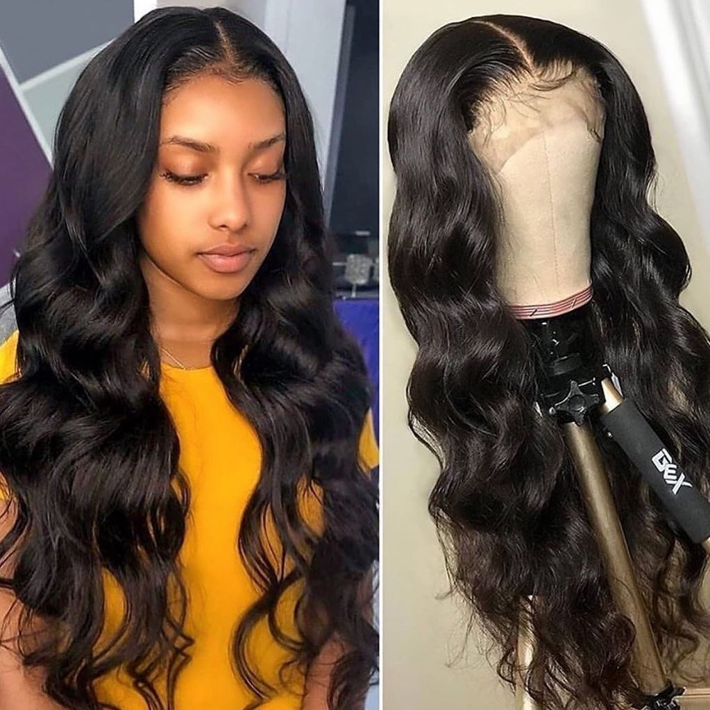 Isee Hair Body Wave Lace Front Wig Pre Plucked Natural Hair Liner